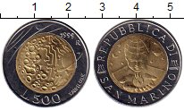 Изображение Монеты Сан-Марино 500 лир 1999 Биметалл UNC
