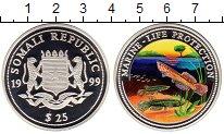 Изображение Монеты Сомали 25 долларов 1999 Серебро Proof