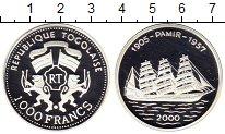 Изображение Монеты Того 1000 франков 2000 Серебро Proof