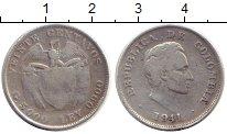Изображение Монеты Колумбия 20 сентаво 1941 Серебро VF