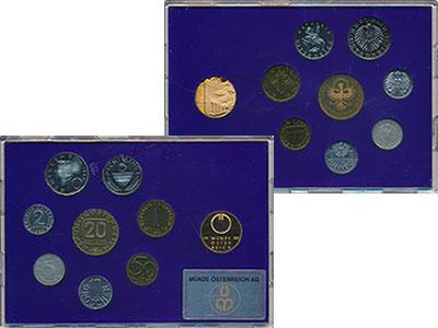 Изображение Подарочные монеты Австрия Набор 1989 года 1989  Proof Набор из семи монет