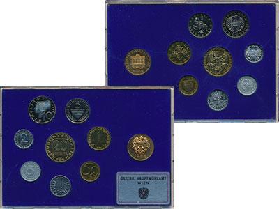 Изображение Подарочные монеты Австрия Набор 1986 года 1986  Proof Набор из семи монет
