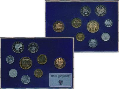 Изображение Подарочные монеты Австрия Набор 1985 года 1985  Proof Набор из семи монет
