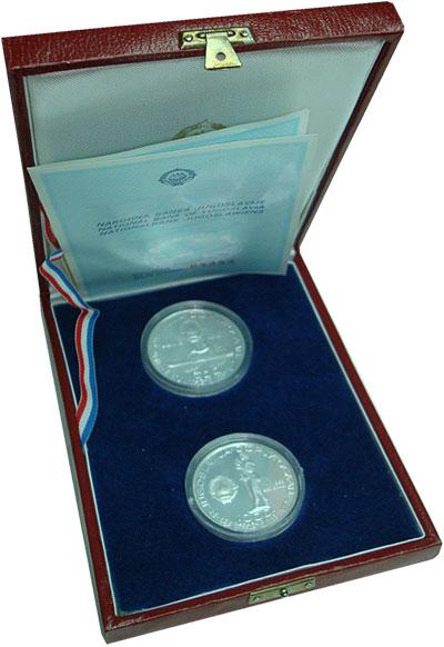 Изображение Подарочные монеты Югославия Чемпионат мира по гребле 1982 Серебро Proof