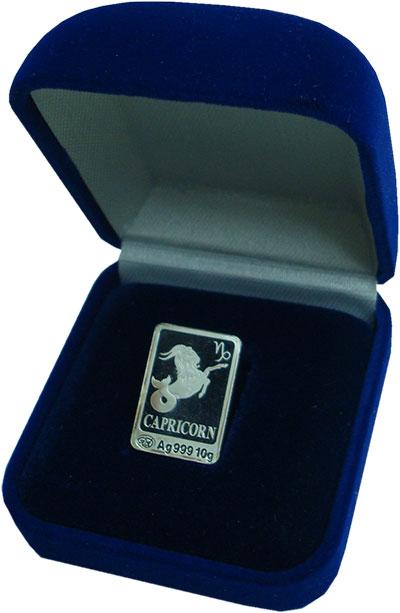 Изображение Подарочные монеты Россия Жетон 0 Серебро Proof Знаки Зодиака - Козе