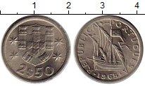 Изображение Монеты Португалия 2 1/2 эскудо 1965 Медно-никель XF
