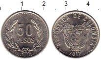 Изображение Монеты Колумбия 50 песо 2012 Медно-никель UNC-