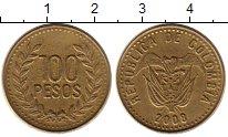 Изображение Монеты Колумбия 100 песо 2008 Латунь XF