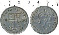 Изображение Монеты Маврикий 1 рупия 1950 Медно-никель XF-