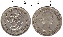 Изображение Монеты Австралия 1 шиллинг 1958 Серебро VF