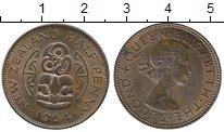 Изображение Монеты Новая Зеландия 1/2 пенни 1964 Бронза VF