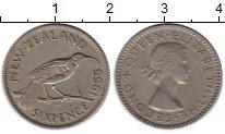 Изображение Монеты Новая Зеландия 6 пенсов 1955 Медно-никель XF