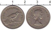 Изображение Монеты Новая Зеландия 6 пенсов 1964 Медно-никель XF