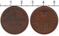 Изображение Монеты Германия Шаумбург-Липпе 4 пфеннига 1858 Медь VF