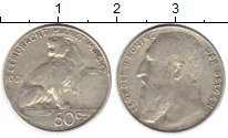Изображение Монеты Бельгия 50 сантим 1901 Серебро XF
