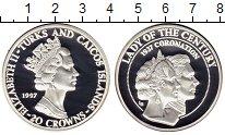 Изображение Монеты Великобритания Теркc и Кайкос 20 крон 1997 Серебро Proof
