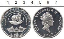 Изображение Монеты Тувалу 5 долларов 1997 Серебро Proof