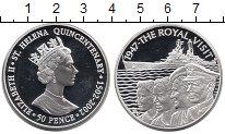 Изображение Монеты Великобритания Остров Святой Елены 50 пенсов 2002 Серебро Proof-