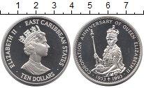 Изображение Монеты Великобритания Карибы 10 долларов 1993 Серебро Proof-
