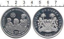 Изображение Монеты Сьерра-Леоне 10 долларов 2002 Серебро Proof