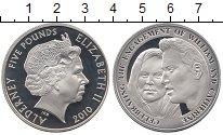 Изображение Монеты Великобритания Олдерни 5 фунтов 2010 Серебро Proof