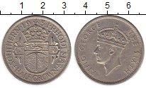 Изображение Монеты Великобритания Родезия 1/2 кроны 1951 Медно-никель XF-