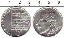 Монета Чехия 200 крон Серебро 2010 UNC фото