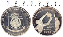 Монета Конго 500 франков Серебро 1992 Proof- фото
