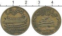 Изображение Монеты Ливан 5 пиастров 1925 Латунь XF