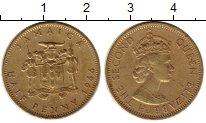 Изображение Монеты Ямайка 1/2 пенни 1966 Латунь XF
