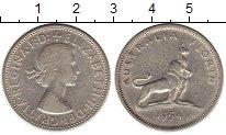 Изображение Монеты Австралия 1 флорин 1954 Серебро XF