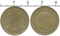 Изображение Дешевые монеты Испания 1 песета 1966 Медно-никель XF-