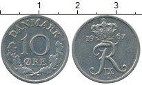 Изображение Дешевые монеты Дания 10 эре 1967 Медно-никель XF-