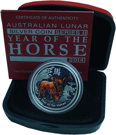 Набор монет Австралия 50 центов Серебро 2014 Proof