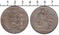 Изображение Монеты Перу 1 соль 1883 Серебро VF