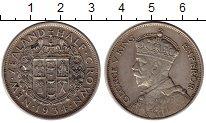 Изображение Монеты Новая Зеландия 1/2 кроны 1934 Серебро XF-