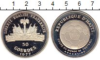 Изображение Монеты Гаити 50 гурдес 1977 Серебро Proof