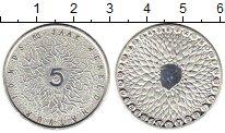 Монета Нидерланды 5 евро Посеребрение 2011 UNC фото