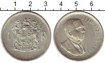 Изображение Монеты ЮАР 1 ранд 1969 Серебро UNC-