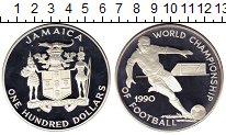Изображение Монеты Ямайка 100 долларов 1990 Серебро Proof