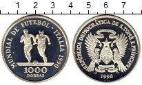 Изображение Монеты Сан-Томе и Принсипи 1000 добрас 1990 Серебро Proof