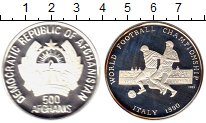 Монета Афганистан 500 афгани Серебро 1989 Proof- фото