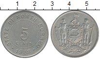 Изображение Монеты Великобритания Борнео 5 центов 1938 Медно-никель XF