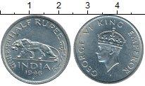 Изображение Монеты Индия 1/2 анны 1946 Медно-никель XF