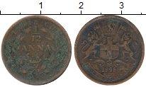 Изображение Монеты Индия 1/12 анны 1848 Медь VF