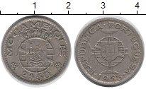 Изображение Монеты Мозамбик 2 1/2 эскудо 1953 Медно-никель XF