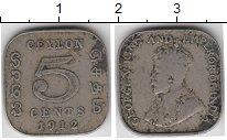 Изображение Монеты Шри-Ланка Цейлон 5 центов 1912 Медно-никель VF