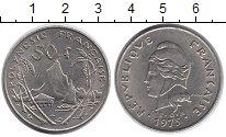 Изображение Монеты Полинезия 50 франков 1975 Медно-никель XF