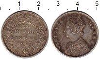 Изображение Монеты Индия 1/2 рупии 1862 Серебро UNC-