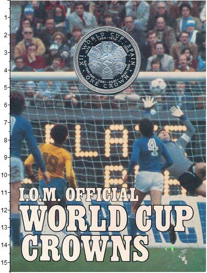 Изображение Подарочные монеты Остров Мэн 1 крона 1982 Серебро Proof Чемпионат  мира  по